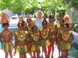 Shi Lanka performers getting ready