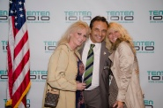 Linette Miller and Lory downey Jr. at the 1010 Wilshire Mixer 1014