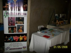 LA.Folklorama display Table